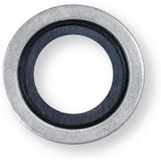 Steel/rubber sealing rings